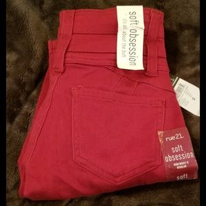 Berry Red Soft Obsession high waist Jaggings